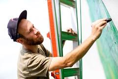Urban Beardo (TerryJohnston) Tags: portrait streetart male art face mi graffiti mural paint artist dof bokeh michigan urbanart grandrapids gr grr grap uica amazingmich canoneos5dmarkiii canon5dmarkiii 5dmarkiii nicknortier exitspaceproject