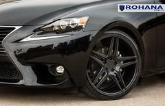 Lexus IS250 - RC8 Matte Black (9) (Rohana Wheels) Tags: wheels toyota rims concave lexus trd luxurycar rohana is250 lexusis250 rc8 luxurywheels fsport rcseries rohanawheels