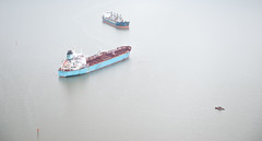 A US Coast Guard photo of the Carla Maersk and the Conti Peridot after a March 2015 collision in the Houston Ship Channel. (TradeWindsnews) Tags: coastguard us cg texas unitedstates spill collision oilspill uscg mtbe houstonshipchannel morganspoint padethouston stationhouston contiperidot carlamaersk