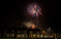 Fireworks over North Anston. (Steve Whitham - BGphotography) Tags: longexposure night fireworks explosion bonfirenight november5th pyrotechnics northanston