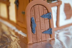 Vintage hardware and hinches! (ineedathis, the older I get, the more fun I have!) Tags: macro miniatures baking modeling entrance nails frame ironwork gingerbreadhouse doorhandle gumpaste woodendoor sugarwork hinches christmas2015 nikond750 antiqueshardware