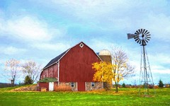 Day, Wisconsin. Well Kept Barn (newagecrap) Tags: autumn windmill wisconsin barn rural nikon farming rustic barns scenic autumncolors explore farms farmbuilding farmscenes badgerstate flickrexplore marathoncounty ruralwisconsin wisconsinfarm centralwisconsin marathoncountywisconsin barnwisconsin wisconsinbarns wisconsinbarn scenicfarm scenicbarn barnpicture rusticwisconsin barnphoto nikond5100 newagecrapphotography october2015 fall2015 topazimpression barnswisconsin scenesfarm daywisconsin rozellvillewisconsin