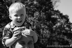 Medicine (karin8700) Tags: boy white black toddler head father son medicine forehead shoulder nikond7100