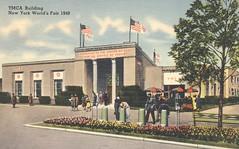 YMCA Building - New York World's Fair 1940 (The Cardboard America Archives) Tags: newyork vintage linen postcard 1940 worldsfair