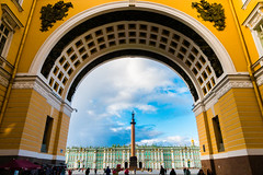 Hermitage (nils.wachter) Tags: blue sky orange yellow museum russia sony petersburg 100 hermitage rx mk4