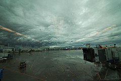 322/365 (local paparazzi (isthmusportrait.com)) Tags: autumn sky fall wet clouds outdoors pod raw zoom iso400 empty wide dreary rainy mysterious raindrops 16mm ultrawide rainfall midwayairport chicagoil 2015 canonraw cr2 365project photoshopelements7 canon5dmarkii localpaparazzi redskyrocketman lopaps tokina1628f28 isthmusportrait costaricaorbust cookcountyillionis