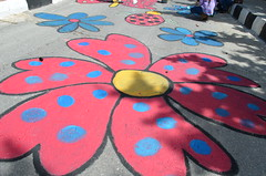 DSC_0116 (Al Ahliyya Amman University) Tags: street flowers students colors painting colorful university pretty time weekend president amman happiness jo jordan characters aau joyful       ccbysa  ahliyya          balqa      alsaro