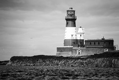 Longstone (marktmcn) Tags: longstone rock lighthouse farne islands northumberland northumbrian coast grace darling heroic rescue windows building structure rocks north sea joseph nelson designer 1826 national trust blackandwhite monochrome d610 nikkor
