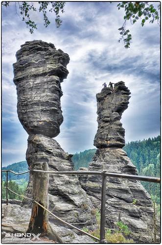 Herkulussäulen im Bielatal