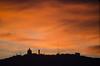Inferno in Tibidabo (Santini1972) Tags: tibidabo sunrise sky backlighting nikonflickraward nikond5100 nikoneurope church barcelona europe