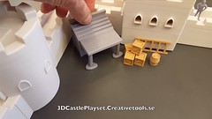 3DCastlePlayset.Creativetools.se 2016-12-09 (Creative Tools) Tags: castle castles toy playset toys wall toykit tower towers house miniatures medieval cow pig horse goat sheep windmill siegetower catapult well barrel box ladder fence animals assembly joint butterflyjoint fort children childrenstoys fortress block blocktoys desktoptoys desktoptoy desktop
