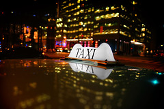 Night Rider (DHaug) Tags: taxi payforhire bokeh sign available street photography client toronto frontstreet unionstatio xf16mmf14rwr xt2 fujifilm
