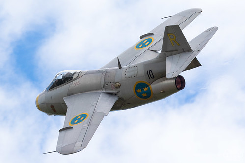 Saab J 29F Tunnan SE-DXB Swedish Airforce Historic Flight