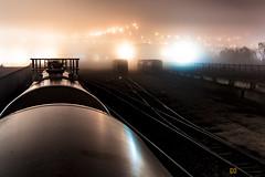 Freight Trains in the Mist (dogslobber) Tags: freight trains railfan foamer mist fog new orleans nola tanker hopper yard train freights