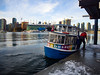 20170101-P1010544 Ferry crossing at the Olympic Village Vancouver, New years day (camera30f) Tags: vancouver bc canada new years day january 1 2017 olympic village daylight water blue white clouds scene city modern urban color sky