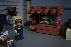 Black Market (Sunder_59) Tags: lego moc render blender3d mecabricks scifi city minifigure cyborg cyberpunk