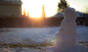 snowman at sunrise - 364/366 (auntneecey) Tags: snowman bokeh blur sunrise 366the2016edition 3662016 day364366 29dec16 theend odc