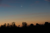 Crescent Moon Rising (MrBlackSun) Tags: moon crescent newmoon rising moonrising sunrise nikon d810 normandy normandie