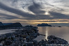 View from Aksla Viewpoint (SarahO44) Tags: aksla ålesund viewpoint view 418 steps norway scandinavia canon 6d sunset city mountains sea islands norweigan art nouveau