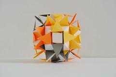 Caledonia Kusudama (Byriah Loper) (Byriah Loper) Tags: origami modularorigami modular byriahloper byriah paperfolding paper polyhedron polygon kami kusudama octahedral