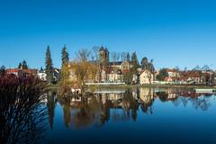 Bad Klosterlausnitz (berndtolksdorf1) Tags: deutschland thüringen saaleholzlandkreis bad klosterlausnitz stadtansicht teich wasser kirche outdoor