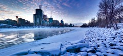 12 Months of the Same Image  #12 (John Andersen (JPAndersen images)) Tags: 12monthsofthesameimage 2017 bowriver calgary city cold january skyline towers winter