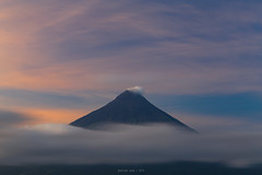 beauty after the storm (gpqua) Tags: sunrise golden hour mayon volcano albay tabaco bicol philippines clouds blue long exposure