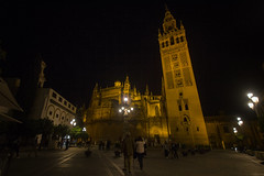 Cathedral of Seville (rschnaible) Tags: sevilla spain espana europe building architecture tour tourist sightseeing old town history historic night photography long exposure cathedral seville church