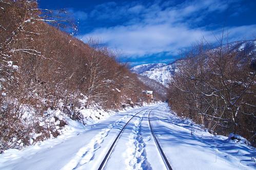 Winter, railroad...