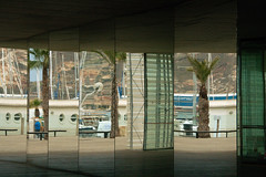Reflections (han&tanja) Tags: reflection entrance architecture cartagena murcia spain canoneos400d sigma18250 tan perspective pov pointofview door window glass