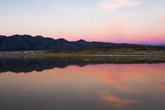 Warm Lake Color Reflections (matthewkaz) Tags: warmlake lake water sunset sky clouds reflections reflection longvalley mountains glassmountains longvalleycaledera easternsierras easternsierra sierranevada monocounty california 2014