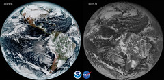 GOES-16 and GOES-13 first day comparison