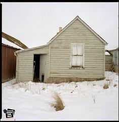 Scotland (Jack the Hat Photographic) Tags: scotland grammar building abandoned empty wooden bronica sqa 120 6x6 film portraying kodak snow winter