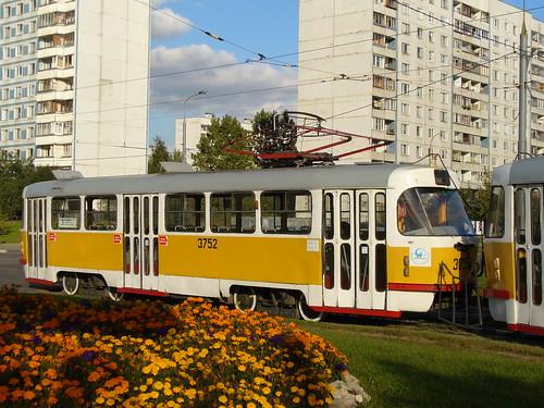 Moscow tram Tatra T3SU 3752