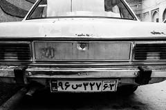 . (robbie ...) Tags: shiraz iran republic car old one black white bw fujifilm xt10 numberplate writing
