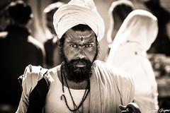 Holy man (karmajigme) Tags: sadhu holy man religious india travel streetphotography monochrome noiretblanc blackandwhite nikon