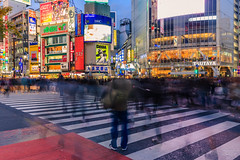 Blurred crowds @ Tokyo (Marcel Tuit | www.marceltuit.nl) Tags: 2016 6d asia azië bluehour canon canon6d eos holland honshu japan me marceltuit nederland november shibuya shibuyacrossing thenetherlands tokyo vakantie advertising autumn backpacking betonjungle bewegeingsonscherpte bezienswaardigheid blauweuur busy city concretejungle contactmarceltuitnl crosswalk crowded dawn druk dusk eiland fall fareast herfst holiday hoogbouw island kruising langesluitertijd longexposure motionblur neon pedestrian populair reclame schemering skyscrapers stad touristspot travel tsutaya twilight verreoosten wijk wolkenkrabbers wwwmarceltuitnl zebrapad zebrapaden