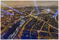 From the Top (Dani Carmona) Tags: paris france eiffel tower night lights skyline seine sena