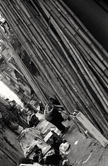 (David Davidoff) Tags: oldwoman street hardlife people bambooscaffolding garbagecollector darksideofthecity lane documentary