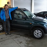 Bill Franklin takes delivery of this CRV from Gary McGregor at our Nelson Branch