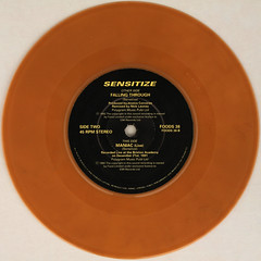 Sensitize - Maniac (Live) (Leo Reynolds) Tags: xleol30x squaredcircle 45rpm record single colour brown vinyl platter disc 7inch sqset120 coloured canon eos 40d xx2015xx sqset