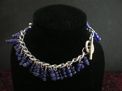Blue Polymer Bracelet (perrenialsage) Tags: bracelet dna etsy genetics molecules characteristics codes flaws pavopetals