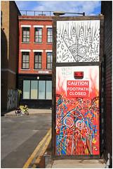 Footpath Closed (Mabacam) Tags: streetart london wall graffiti stencil mural patterns wallart urbanart shoreditch freehand publicart aerosolart spraycanart stencilling eastend 616 beyourself 2015 urbanwall