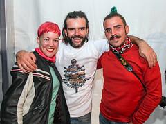 Charly Sinewan con Noemí Casquet y Alberto Frost