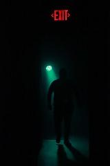 Foggy doorways (LolaKatt) Tags: usa nc shadows asheville creepy nightlife exit larisakarr