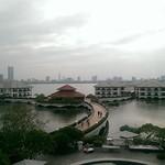 Blick vom Intercontinental Westlake auf die Skyline von Hanoi