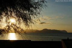 Tramonto Monte Pellegrino (Abdujaparov) Tags: sunset summer italy sun italia tramonto mare estate sicily palermo sicilia bagheria montepellegrino aspra
