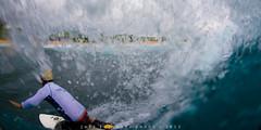Darren Akana at Half Point, Sandy Beach (j . f o o j) Tags: eastside sandys kneeboarding sandybeach halona halfpoint kneeboardsurfing