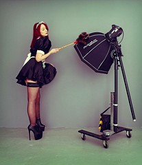 David Porter Photography 2015 (Sherylanne Green) Tags: red david green stockings hair french photography scotland costume model scottish redhead cleaning aberdeen duster heels porter maid frenchmaid davidporter sherylanne shezzag