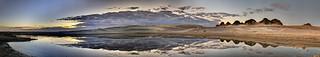 Stockton Beach Sand Dunes Sunset Reflections